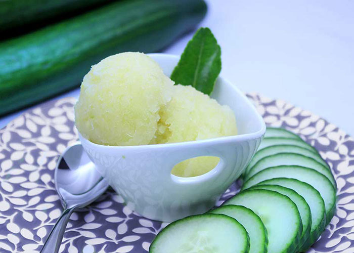 Cucumber Lime Sorbet