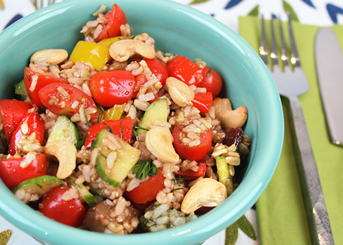 Brown Rice Vegetable Salad