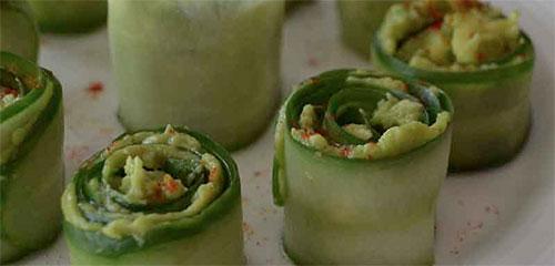 Cucumber Avocado Roll Ups